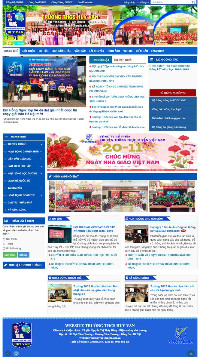 website truong thcs huy van ha noi