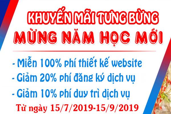 Chương trình miễn phí thiết kế website chào mừng năm học mới 2019-2020