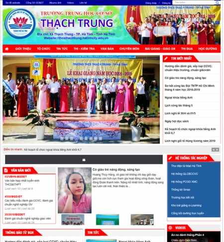 WEBSITE TRƯỜNG THCS THẠCH TRUNG